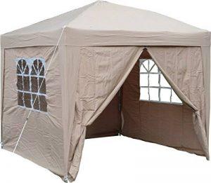 AirWave Tente 2.5x2.5mtr dépliable gazebo, waterproof, beige,+ 4 panneaux côté de la marque AirWave image 0 produit