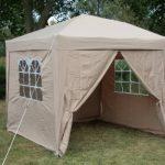 AirWave Tente 2.5x2.5mtr dépliable gazebo, waterproof, beige,+ 4 panneaux côté de la marque AirWave image 1 produit