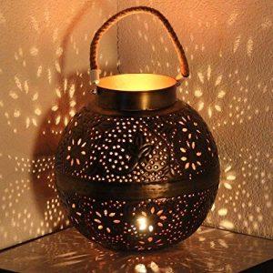 albena shop 71-4985 Punita photophore de jardin lanterne avec motif fleurs Ø 28cm boule en métal de la marque albena shop image 0 produit