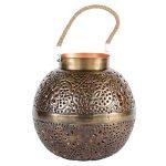 albena shop 71-4985 Punita photophore de jardin lanterne avec motif fleurs Ø 28cm boule en métal de la marque albena shop image 1 produit
