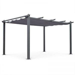 Alice's Garden - Pergola aluminium - Condate 3x4m - Toile grise - Pergola idéale pour votre terrasse, toit retractable, toile coulissante, structure aluminium de la marque Alice's Garden image 0 produit
