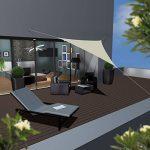 AMANKA Voile d'ombrage 4x4x4m en polyester hydrofuge protection du soleil UPF50+ toile triangulaire XXL ombre jardin Beige de la marque AMANKA image 1 produit