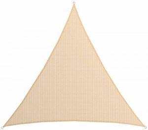 AMANKA Voile d'ombrage XXXL 6x6x6m toile triangulaire de jardin pour faire ombre en PE-HD respirant perméable Crème de la marque AMANKA image 0 produit