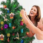Amzdeal Sapin de Noël artificiel avec LED lumineux de 4 couleurs, Arbre de Noël Lumineux avec 250 LED pour la décoration de la fête de Noël - Hauteur 180cm de la marque Amzdeal image 4 produit