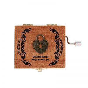 Andoer Retro Bois Musical Box Manivelle Music Box exécution exquise 4 modèles pour l'option de la marque Andoer image 0 produit