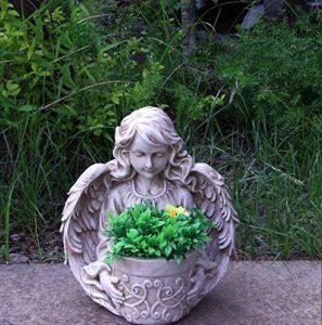 Ange nf15150Statue de jardin décoration de jardin pot 33cm pot de fleurs haut Pot de fleurs Bol de la marque GMMH image 0 produit