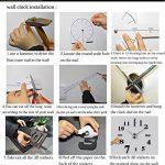 Angke moderne Mute DIY Grande horloge murale 3d Autocollant Home Office Décor Cadeau Noir de la marque Angke image 3 produit