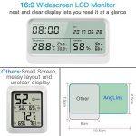 AngLink Thermomètre Hygromètre interieur à Grand Écran LCD 16:9 Température Humidité avec Fonction Horloge et Calendrier pour Maison ou Bureau de la marque AngLink image 1 produit