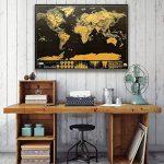 Anokay Carte à Gratter - grand Map du Monde à Gratter - poster Monde XXL, Travel Voyage 82 x 60 cm/ Règle créative pour Voyage (12 Drapeaux gratuits) de la marque Anokay image 6 produit