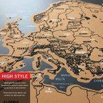 Anokay Carte à Gratter - grand Map du Monde à Gratter - poster Monde XXL, Travel Voyage 82 x 60 cm/ Règle créative pour Voyage (12 Drapeaux gratuits) de la marque Anokay image 2 produit