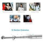 Anself Drapeau Télescopique Mât de Drapeau Extérieur Inox pour Enseignement Pointeur Tour Guide de la marque Anself image 2 produit