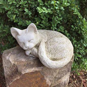 antikas–Sommeil endes chaton mignon–Chat–naturgetreue Figurines Chat rebord de fenêtre en pierre de la marque Antikas image 0 produit