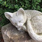 antikas–Sommeil endes chaton mignon–Chat–naturgetreue Figurines Chat rebord de fenêtre en pierre de la marque Antikas image 1 produit