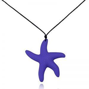 Aoligei Bijoux simples cinq étoiles de mer Pendentif en silicone Collier D de la marque Aoligei image 0 produit