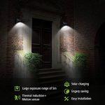 Applique murale extérieure à lampe solaire Pathonor Applique murale à LED Lampe Solaire Éclairage Inductif Automatique à Economie d'Energie,Etanche, Adapté pour les Bâtiments Résidentiels,Les Immeubles de Bureaux, les Centres Commerciaux et Autres Environ image 1 produit