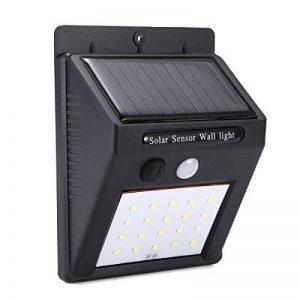 Applique murale extérieure à lampe solaire Pathonor Applique murale à LED Lampe Solaire Éclairage Inductif Automatique à Economie d'Energie,Etanche, Adapté pour les Bâtiments Résidentiels,Les Immeubles de Bureaux, les Centres Commerciaux et Autres Environ image 0 produit