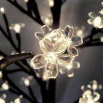 Arbre Cerisier Lumineux 200 LEDs 180cm pour Intérieur Extérieur Décoration fêtes de la marque Deuba image 4 produit