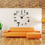 Asvert Grande Horloge Murale 3D DIY Design Moderne Décorations Numérique en Acrylique pour Salon (Noir-1) de la marque Asvert image 4 produit