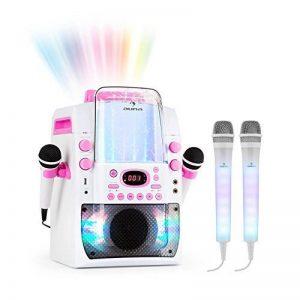auna Kara Liquida BT et Dazzl Mic Set • Système karaoké • Karaoké • Effet lumineux LED multicolore avec fontaine d'eau • MP3 • USB • Bluetooth • Effet écho • Fonction A.V.C • Rose de la marque Auna image 0 produit