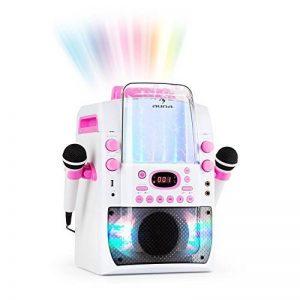 auna Kara Liquida BT • Système karaoké • Karaoké • Effet d'éclairage LED multicolore avec fontaine d'eau • Port USB compatible MP3 • Bluetooth • Effet écho et fonction A.V.C • Blanc / rose de la marque Auna image 0 produit