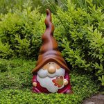 Austin' le Nain de Jardin Automnal avec Feuille en Terre Cuite. de la marque Gardens2you image 1 produit