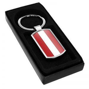 Autriche Drapeau Porte-clés en métal 014 de la marque Duke Gifts image 0 produit