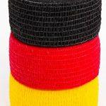 Aux Couleurs De L'Allemagne pour la Coupe du Monde 2018in Russie, neuerscheinung, fan Meilenweit, retransmissions sur écrans géants, WM 2018, football, bandages pour doigts 2,5cm, noir/rouge de la marque FanTaps image 2 produit