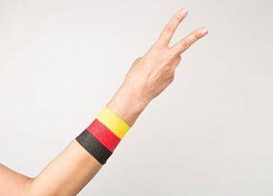 Aux Couleurs De L'Allemagne pour la Coupe du Monde 2018in Russie, neuerscheinung, fan Meilenweit, retransmissions sur écrans géants, WM 2018, football, bandages pour doigts 2,5cm, noir/rouge de la marque FanTaps image 0 produit