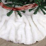 Aytai Luxe imitation fourrure Jupe de sapin de Noël Blanc neige doux 120 cm Décorations de Noël Noël Vacances Arbre jupes de la marque Aytai image 1 produit