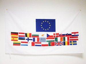 AZ FLAG DRAPEAU UNION EUROPÉENNE 28 PAYS 150x90cm - DRAPEAU PAYS D'EUROPE - UE 90 x 150 cm Fourreau pour hampe de la marque AZ FLAG image 0 produit