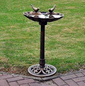 Baignoire d'oiseau pour jardin sur piédestal Résistant à l'eau Traditionnel Bronze de la marque Other image 0 produit