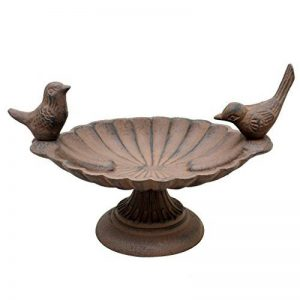 Bain d'oiseau en fonte inséparables 18 cm – Welcome to the Birds vers votre jardin CE Printemps. de la marque Dibor - French Style Accessories for the Home image 0 produit