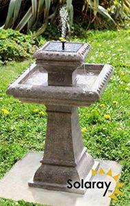 Bain d'Oiseau Pizzaro – Fontaine Solaire Avec Lumières de la marque Primrose image 0 produit