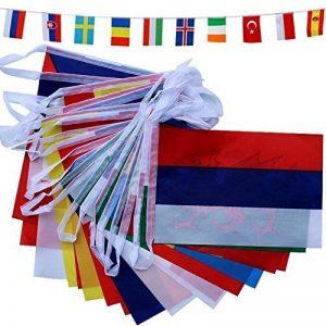 banderole drapeaux monde TOP 2 image 0 produit