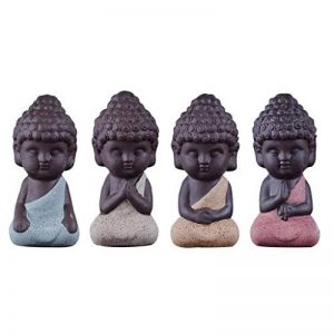 Baoblaze 4 Pcs Mini Statue de Bouddha Monk Figurine Salon Maison Table Décoration Noël de la marque Baoblaze image 0 produit