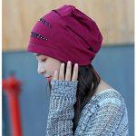 Baotou hat cap sleeve femme tête à casquette Casquette fashion mois chaude nuit d'hiver turban chimiothérapie,gratuitement,bombe micro rouge Jujube de la marque BTBTAV image 1 produit
