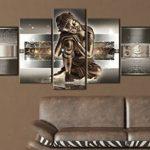 BD XXL murando - Impression sur toile - 100x50 cm - 5 pieces - Image sur toile - Images - Photo - Tableau - motif moderne - Décoration - tendu sur chassis - Bouddha 020113-289 de la marque BD XXL image 2 produit