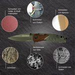 BearCraft Couteau Pliant | Couteau de Survie en Plein Air avec Insert en Bois | Petit Couteau Pliant en Acier Inoxydable | Idéal Pour les Loisirs, Randonnée Pédestre de la marque BearCraft image 3 produit
