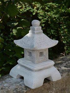 Belle oki yukimi lanterne japonaise gata en pierre de fonte, résistant au gel de la marque gartendekoparadies.de image 0 produit