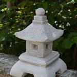 Belle oki yukimi lanterne japonaise gata en pierre de fonte, résistant au gel de la marque gartendekoparadies.de image 2 produit