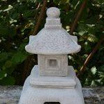 Belle oki yukimi lanterne japonaise gata en pierre de fonte, résistant au gel de la marque gartendekoparadies.de image 1 produit