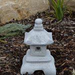 Belle oki yukimi lanterne japonaise gata en pierre de fonte, résistant au gel de la marque gartendekoparadies.de image 3 produit