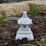 Belle oki yukimi lanterne japonaise gata en pierre de fonte, résistant au gel de la marque gartendekoparadies.de image 4 produit