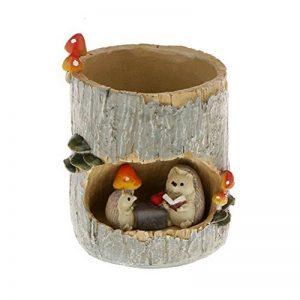 BESTOMZ Pot de Fleurs Cactus et Succulents Plante Bac à Fleurs Rond Pot à Crayons (Fée Jardin Miniature Figurine Résine Hérisson) de la marque BESTOMZ image 0 produit