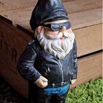 Biker Nain de Jardin - figurine originale avec blouson en cuir de motard de la marque Gnome image 2 produit