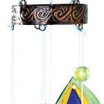 Bits and Pieces Embouts et Pièces–Coloré Paon Wind Chimes–Sculpture en Métal et en Verre à Suspendre et Carillon–Ajoutez Musical Charm à N'importe Quel Espace extérieur de la marque Bits and Pieces image 3 produit