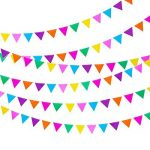Blulu 3 Paquets Bannière Papier Bannière Drapeau Bannière Triangle 11,5 Pieds Party Bunting Hanging Decorations pour l'Anniversaire de Mariage Décoration de la Maison de la marque Blulu image 1 produit
