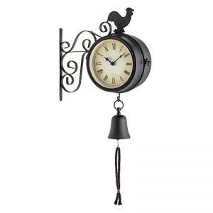 Blumfeldt Early Bird - Horloge murale design pendule de gare rétro intérieur & extérieur avec thermomètre et décorations coq et cloche de la marque Blumfeldt image 0 produit