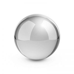 Blumfeldt Silver Globe - Boule de jardin décorative en inox V2A, surface polie haute brillance (30cm Ø, boule creuse pour flotter dans les bassins) - argent de la marque Blumfeldt image 0 produit