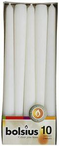 Bolsius Lot De 10Bougies, Longues Blanc de la marque Bolsius image 0 produit